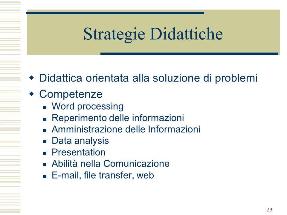 Strategie Didattiche Didattica orientata alla soluzione di problemi