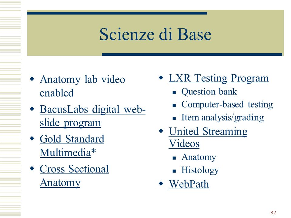 Scienze di Base Anatomy lab video enabled