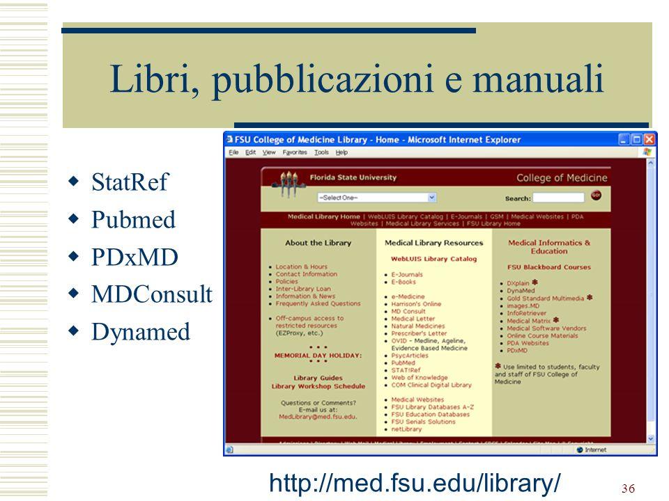 Libri, pubblicazioni e manuali