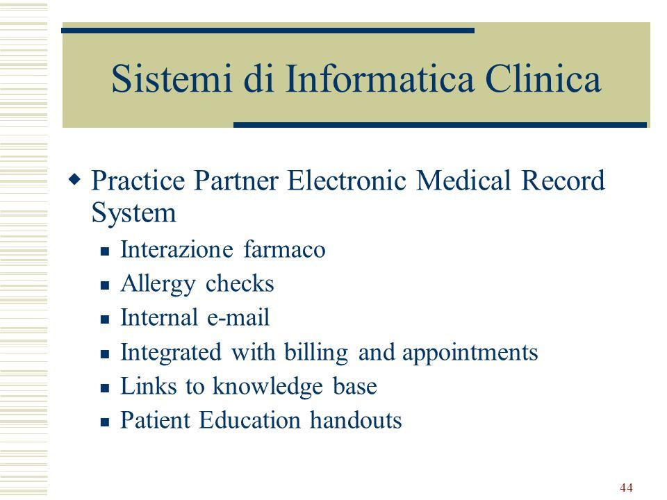 Sistemi di Informatica Clinica