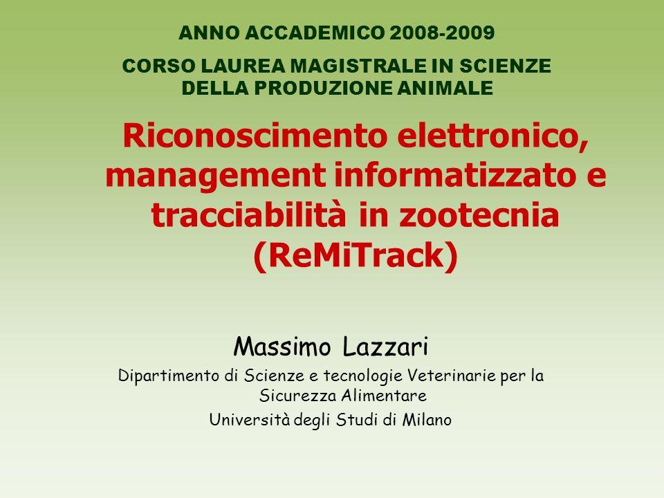 ANNO ACCADEMICO 2008-2009 CORSO LAUREA MAGISTRALE IN SCIENZE DELLA PRODUZIONE ANIMALE.