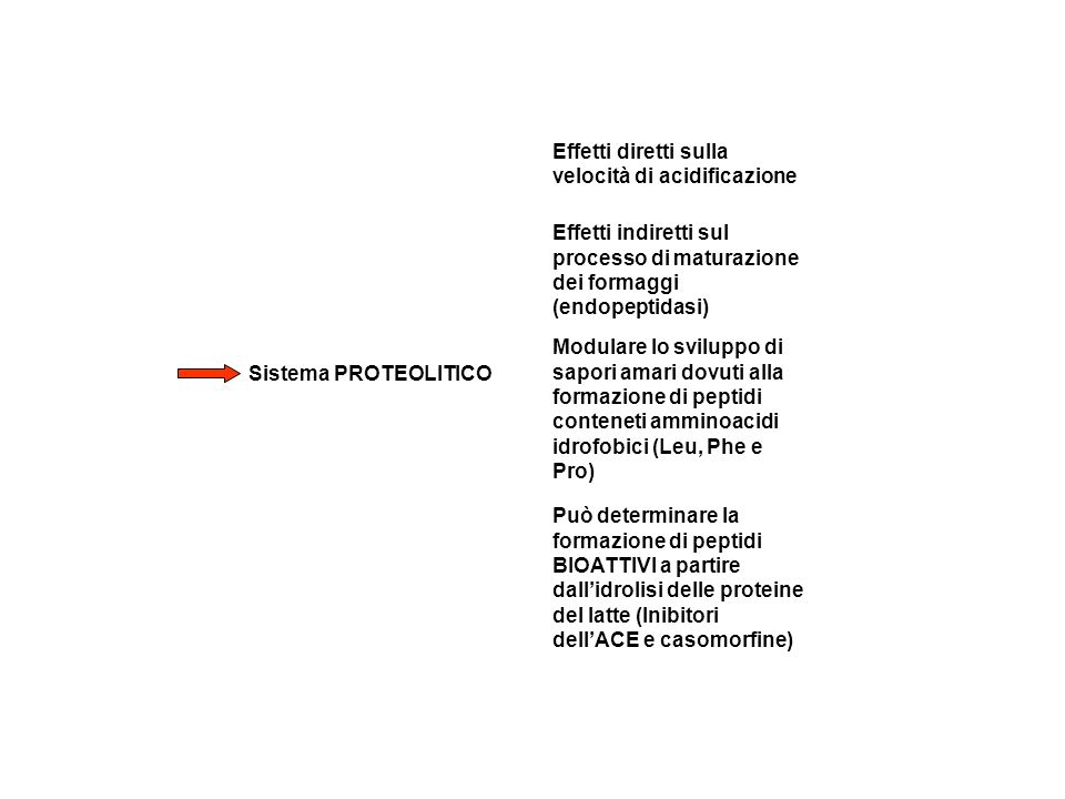Effetti diretti sulla velocità di acidificazione