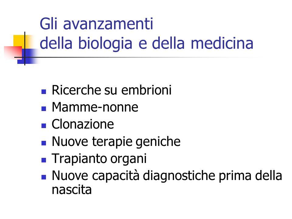 Gli avanzamenti della biologia e della medicina