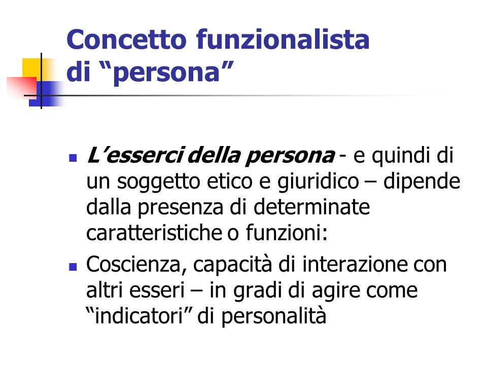 Concetto funzionalista di persona