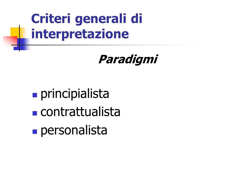 Criteri generali di interpretazione