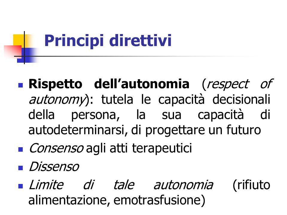 Principi direttivi
