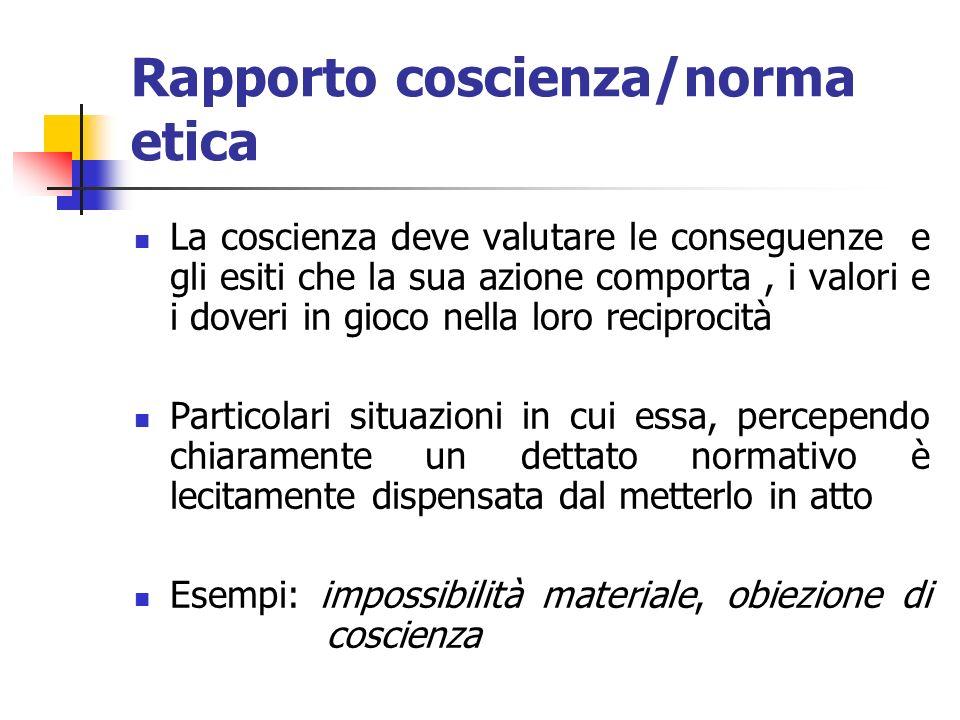 Rapporto coscienza/norma etica