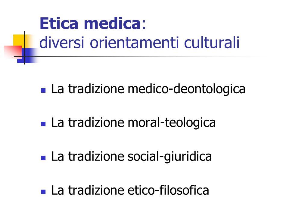 Etica medica: diversi orientamenti culturali