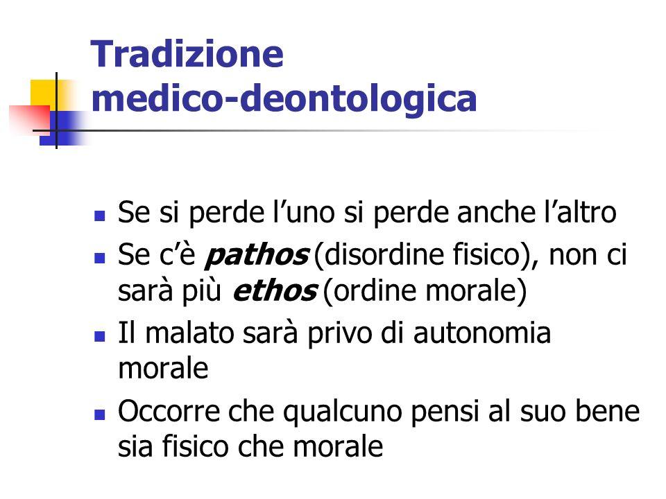 Tradizione medico-deontologica