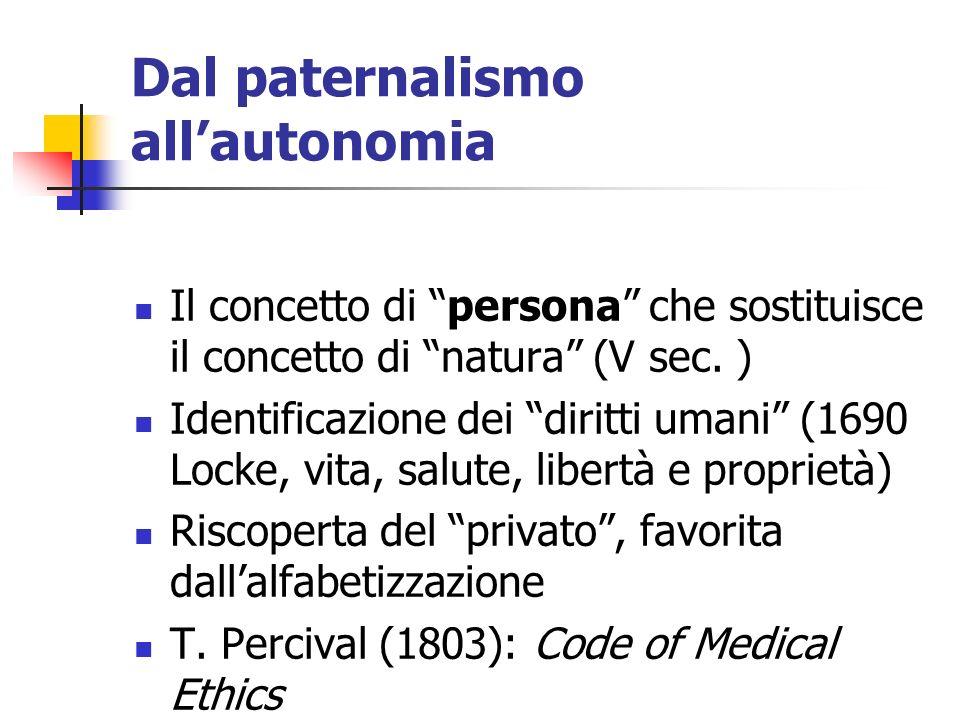 Dal paternalismo all'autonomia
