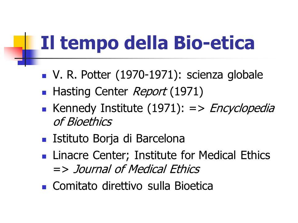 Il tempo della Bio-etica