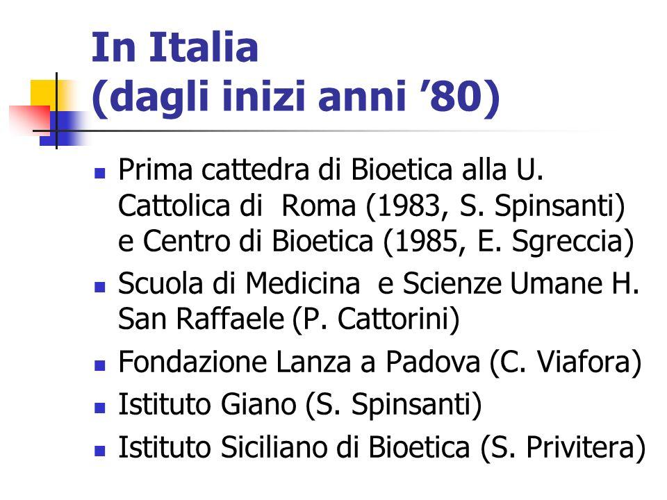 In Italia (dagli inizi anni '80)