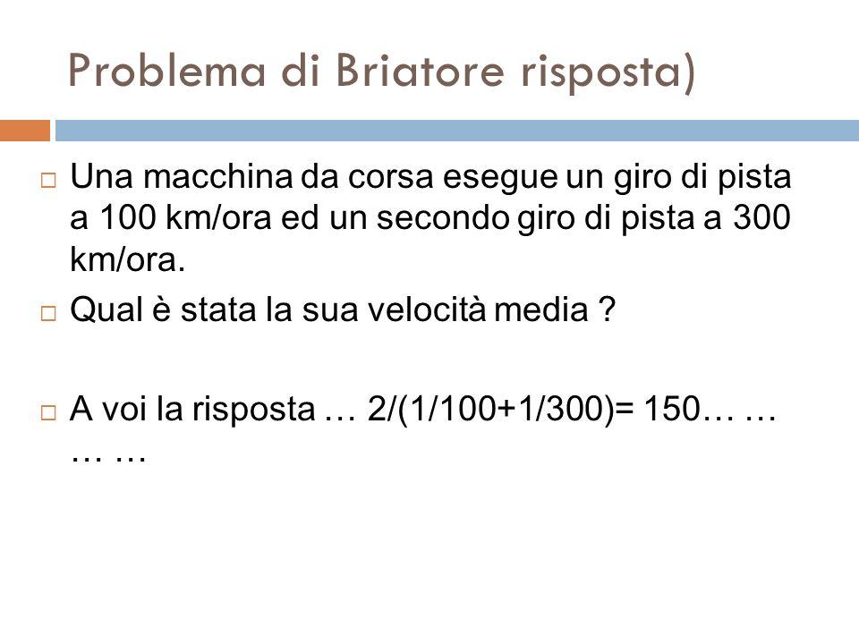 Problema di Briatore risposta)