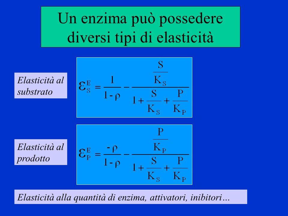 Un enzima può possedere diversi tipi di elasticità