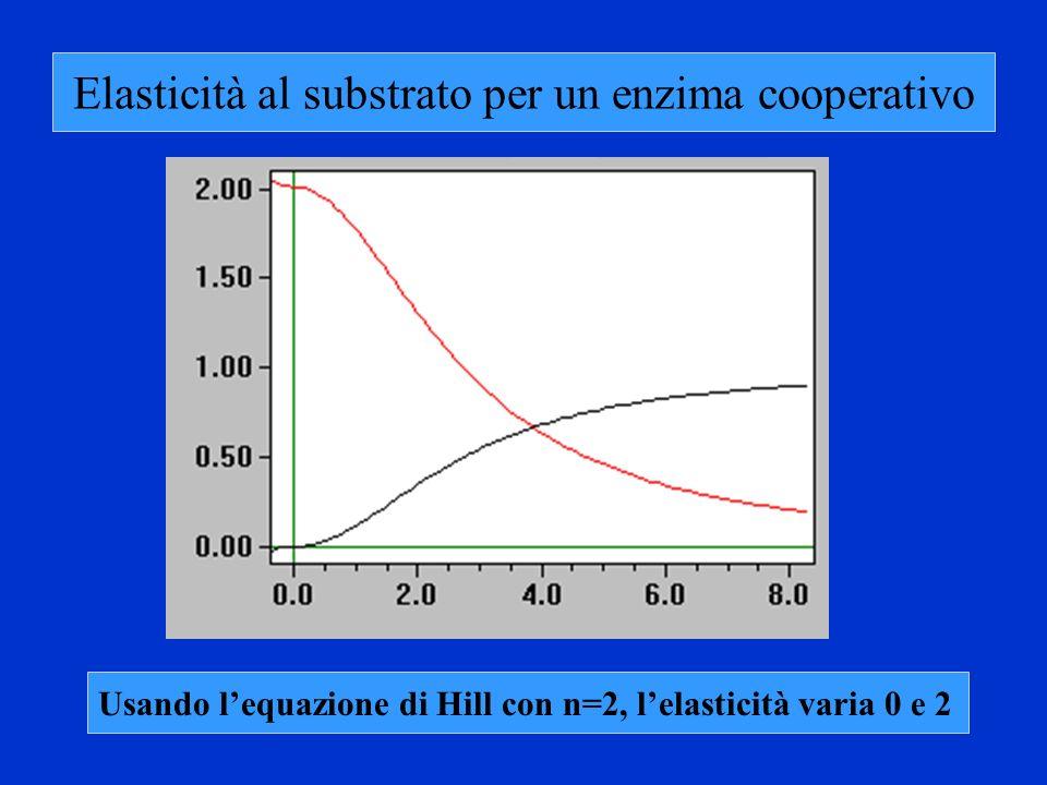 Elasticità al substrato per un enzima cooperativo