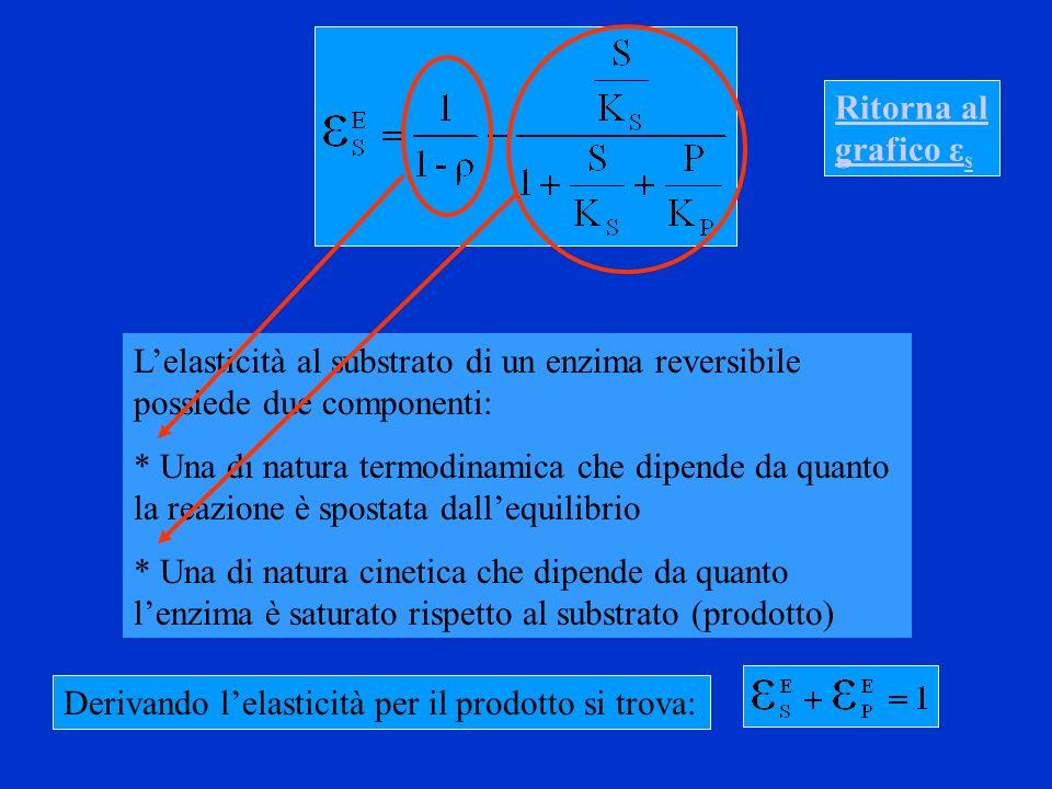 Ritorna al grafico εs L'elasticità al substrato di un enzima reversibile possiede due componenti: