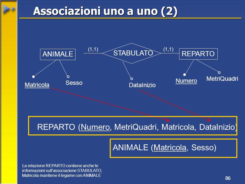 Associazioni uno a uno (2)