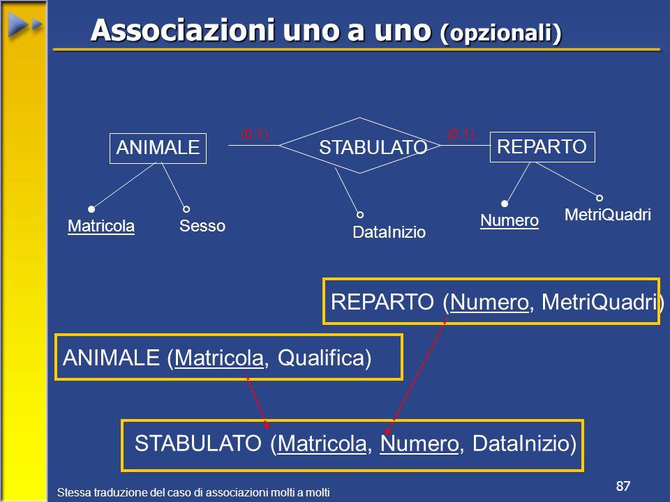 Associazioni uno a uno (opzionali)