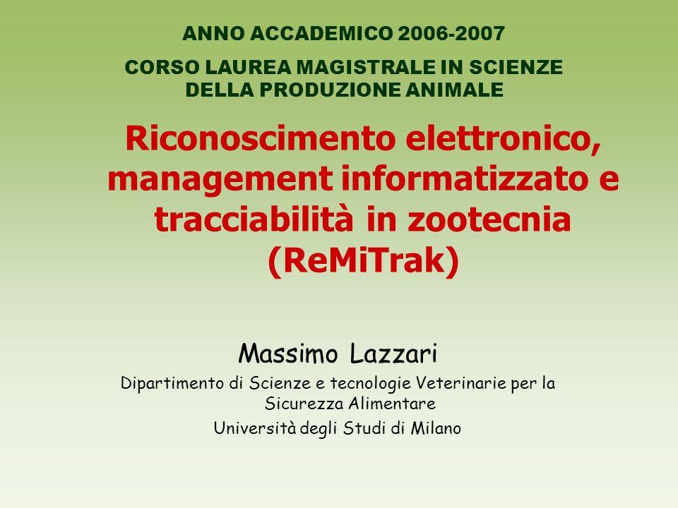 ANNO ACCADEMICO 2006-2007 CORSO LAUREA MAGISTRALE IN SCIENZE DELLA PRODUZIONE ANIMALE.