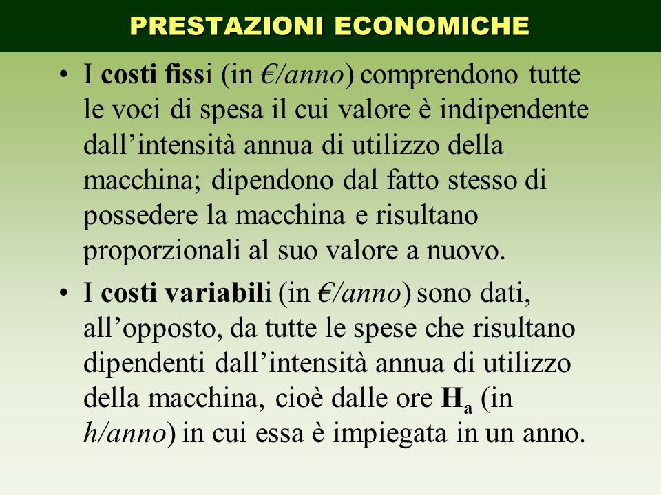 PRESTAZIONI ECONOMICHE