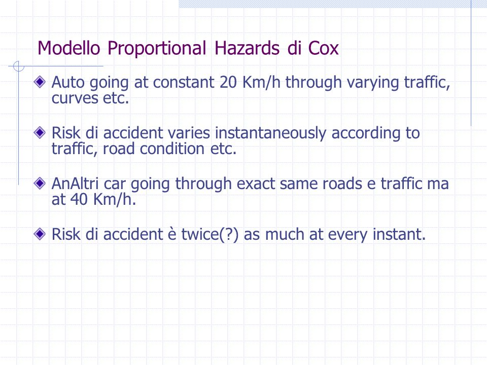 Modello Proportional Hazards di Cox