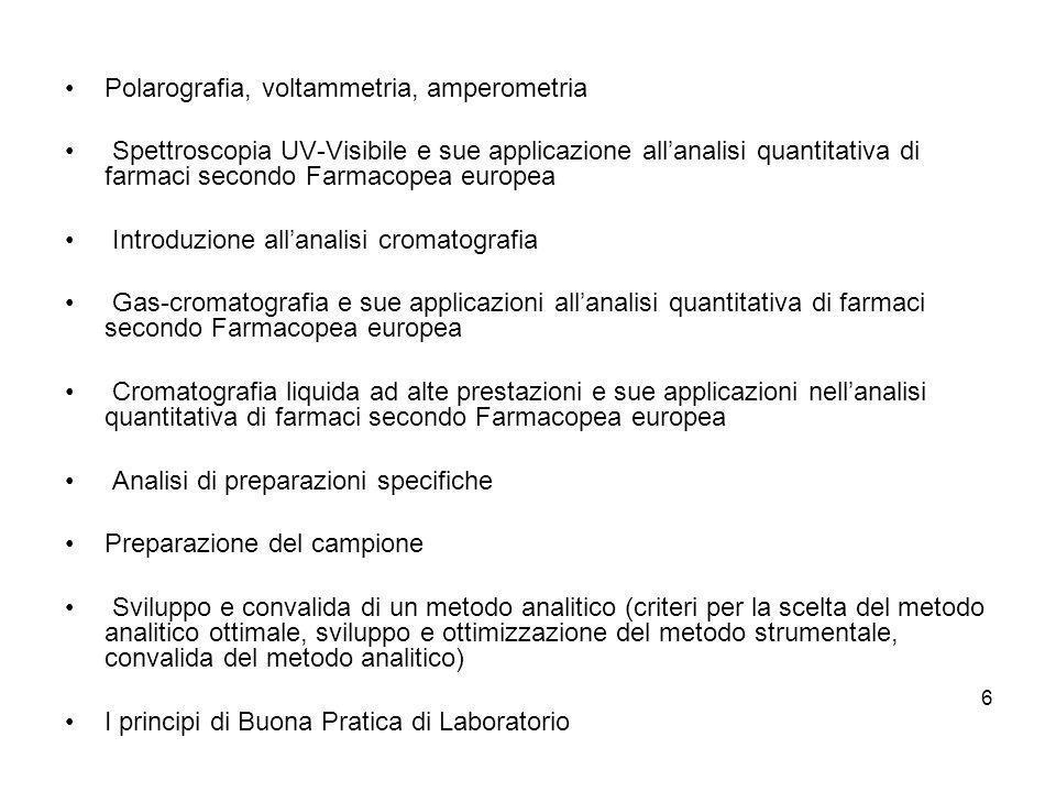 Polarografia, voltammetria, amperometria