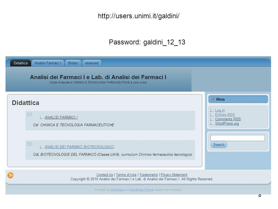http://users.unimi.it/galdini/ Password: galdini_12_13