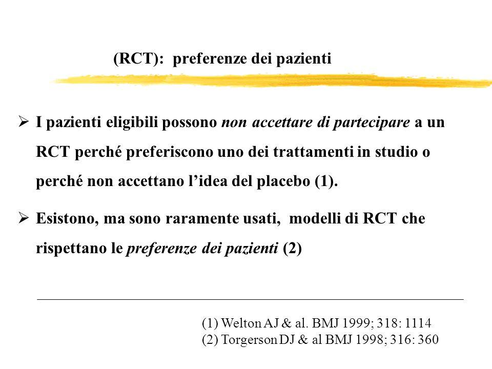 (RCT): preferenze dei pazienti