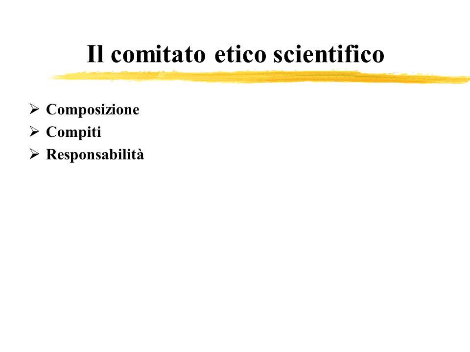Il comitato etico scientifico