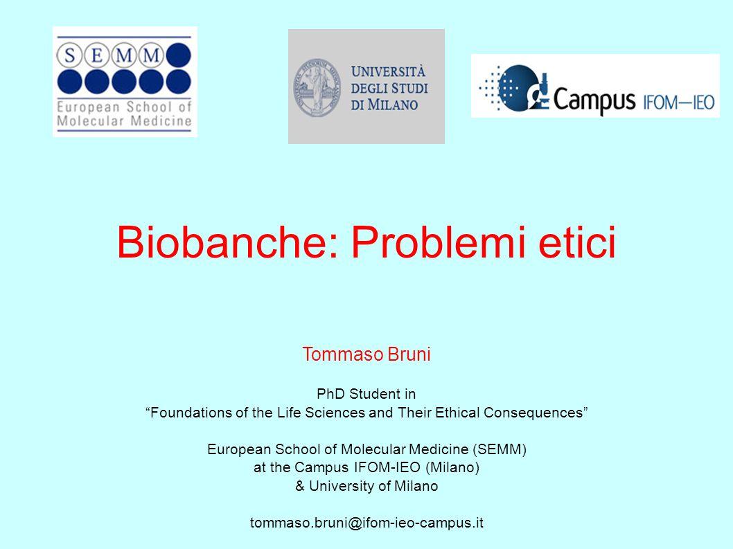 Biobanche: Problemi etici