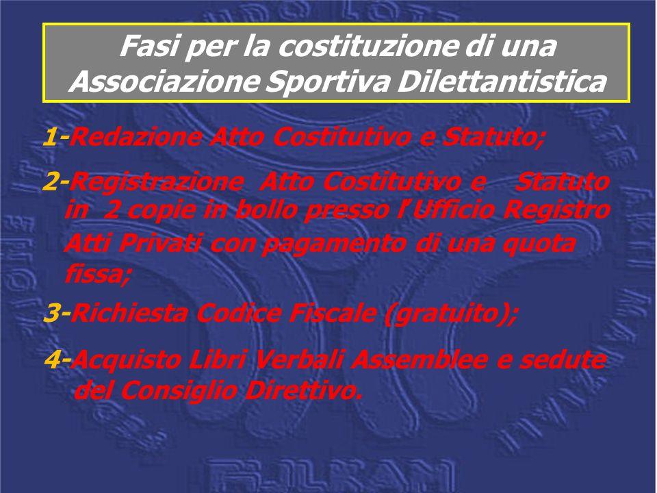 Fasi per la costituzione di una Associazione Sportiva Dilettantistica