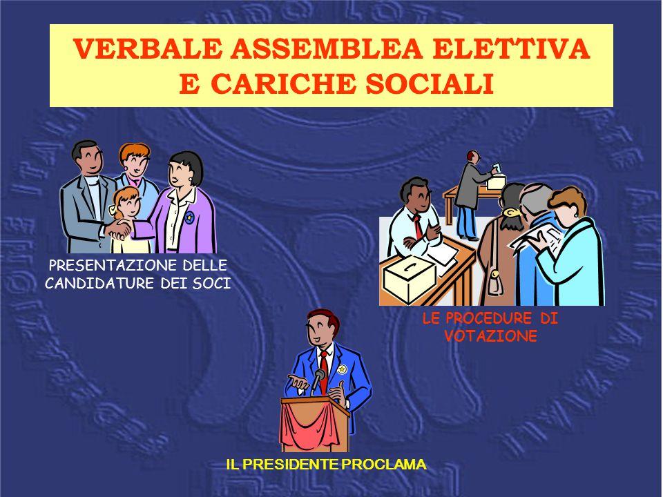 VERBALE ASSEMBLEA ELETTIVA E CARICHE SOCIALI