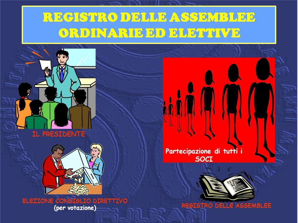 REGISTRO DELLE ASSEMBLEE ORDINARIE ED ELETTIVE