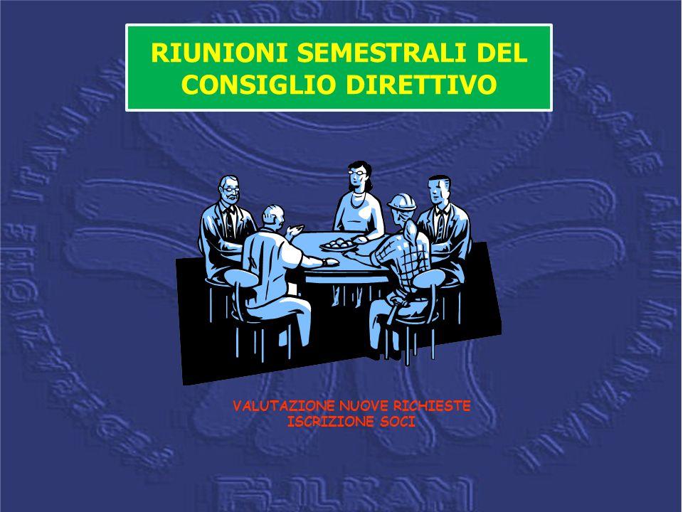 RIUNIONI SEMESTRALI DEL CONSIGLIO DIRETTIVO