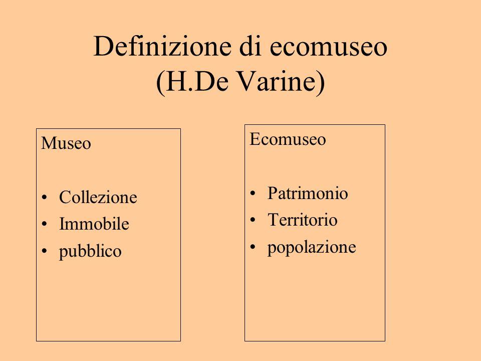 Definizione di ecomuseo (H.De Varine)