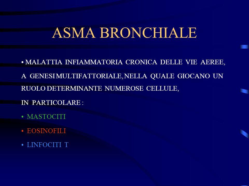 ASMA BRONCHIALE MALATTIA INFIAMMATORIA CRONICA DELLE VIE AEREE,