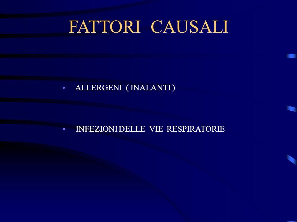 FATTORI CAUSALI ALLERGENI ( INALANTI )