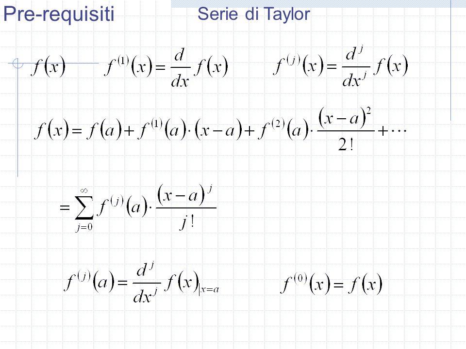 Pre-requisiti Serie di Taylor
