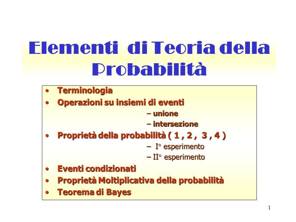 Elementi di Teoria della Probabilità