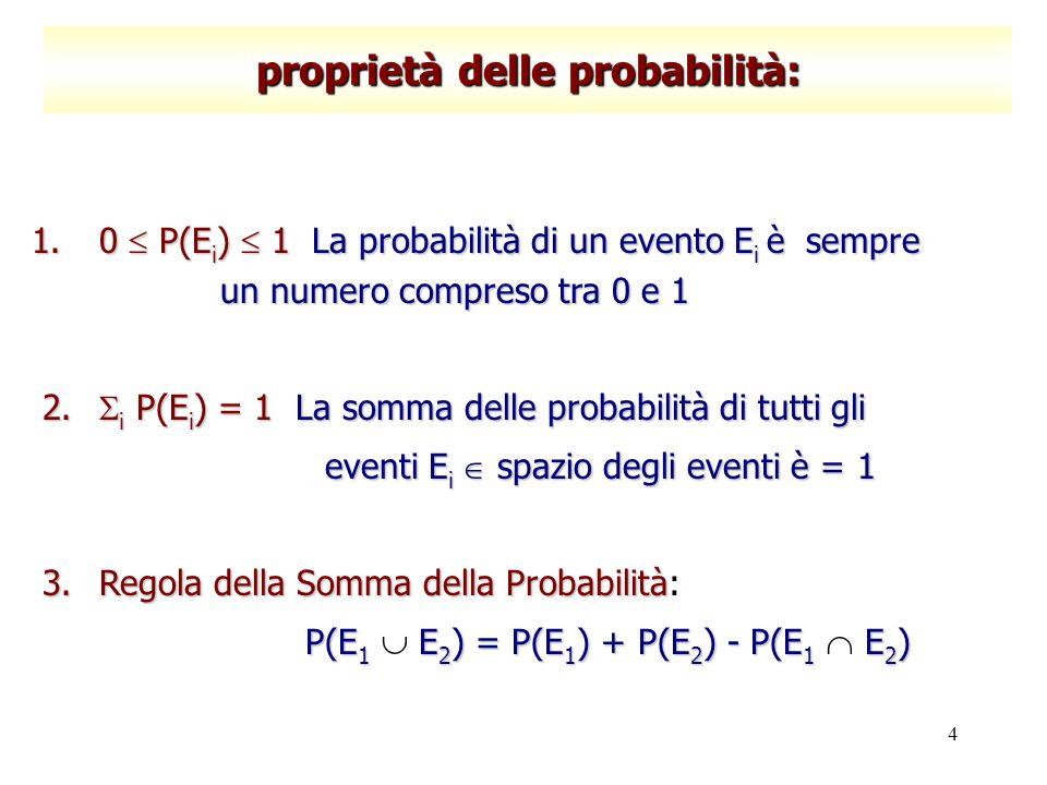 proprietà delle probabilità: