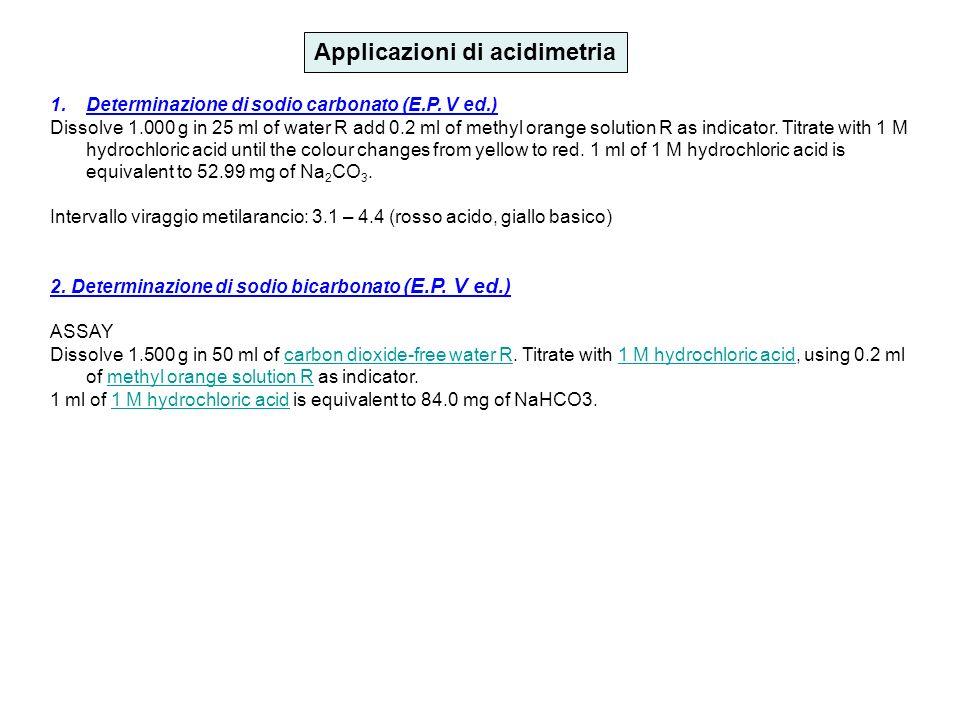 Applicazioni di acidimetria