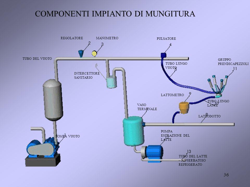 COMPONENTI IMPIANTO DI MUNGITURA