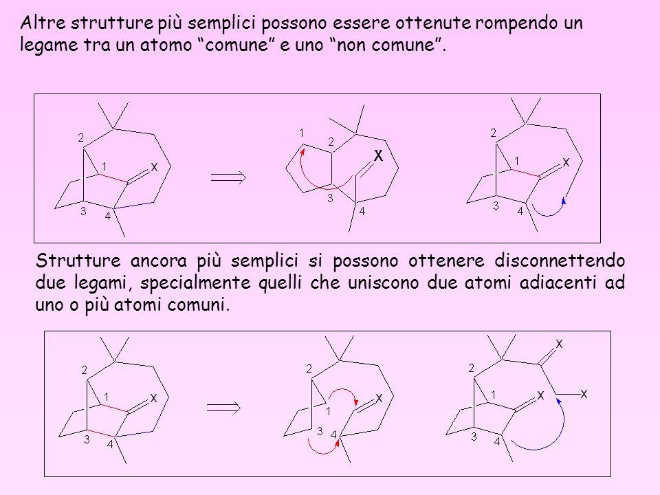 Altre strutture più semplici possono essere ottenute rompendo un legame tra un atomo comune e uno non comune .