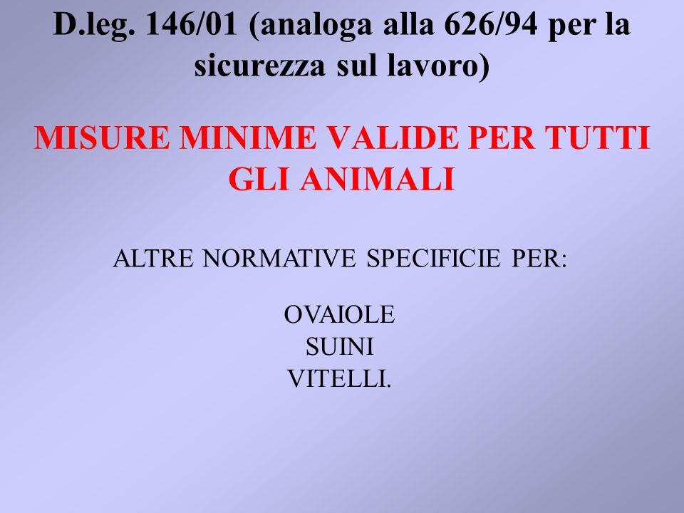 MISURE MINIME VALIDE PER TUTTI GLI ANIMALI