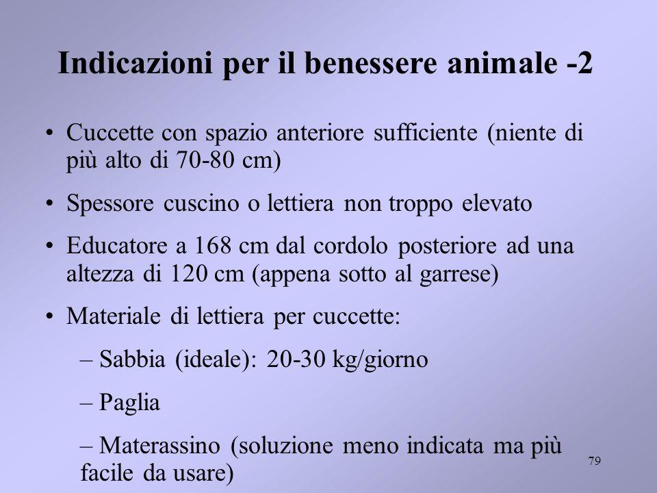 Indicazioni per il benessere animale -2