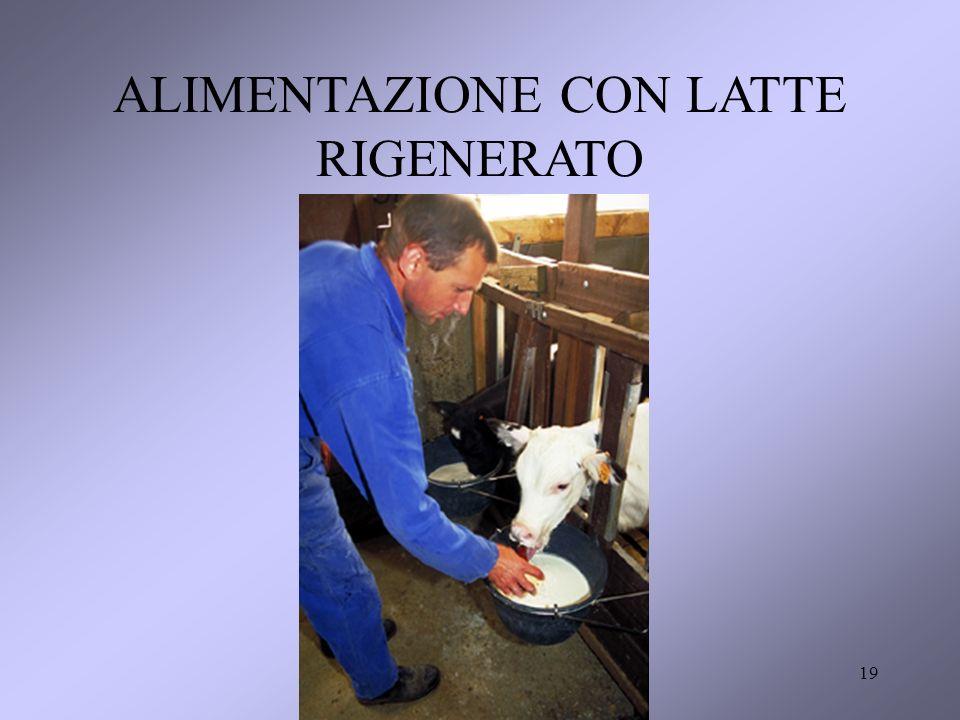 ALIMENTAZIONE CON LATTE RIGENERATO