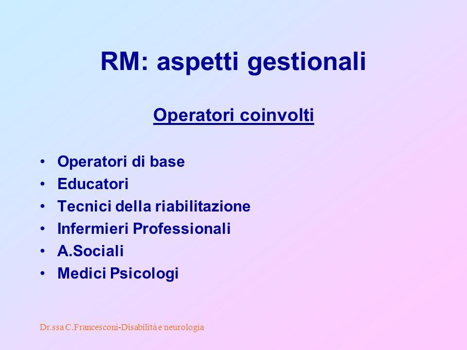 RM: aspetti gestionali