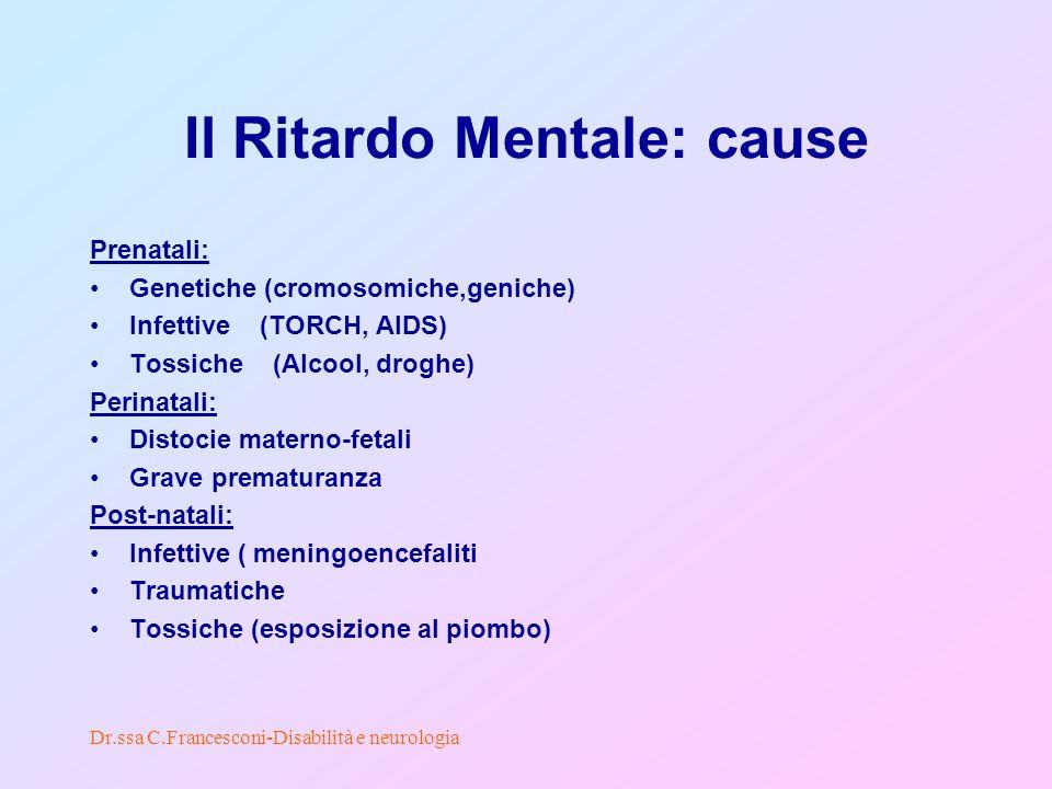 Il Ritardo Mentale: cause