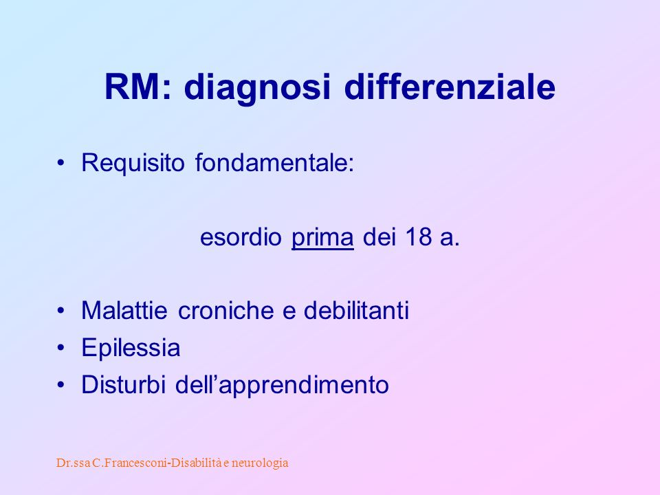 RM: diagnosi differenziale