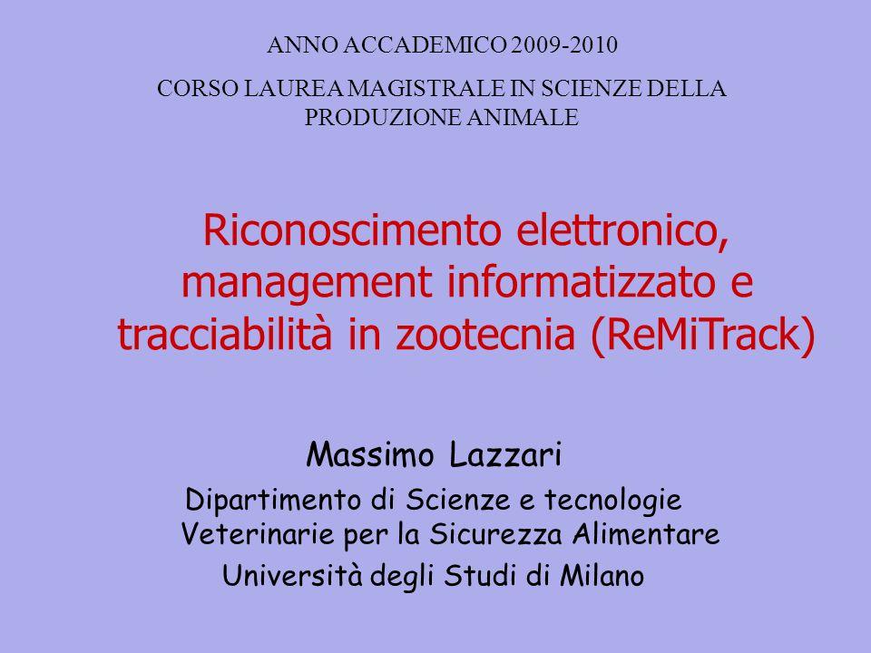 ANNO ACCADEMICO 2009-2010 CORSO LAUREA MAGISTRALE IN SCIENZE DELLA PRODUZIONE ANIMALE.